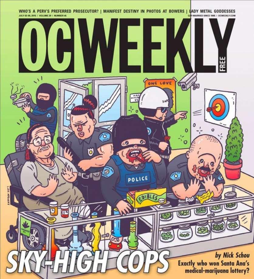 Cops raid dispensary California