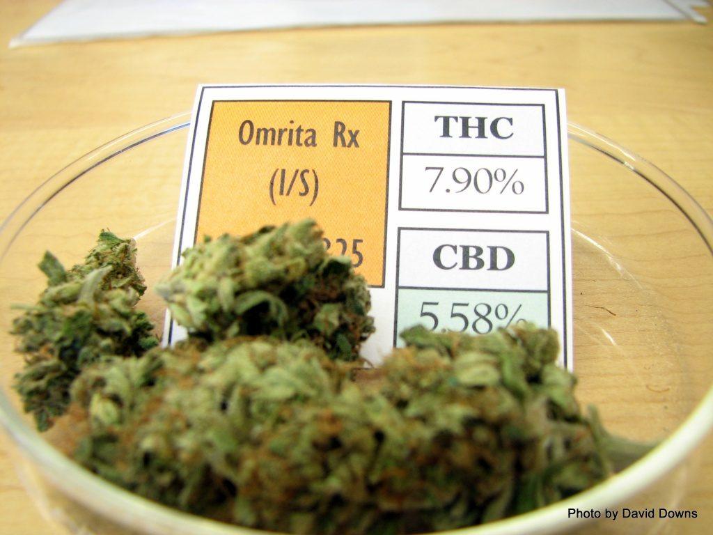 Marijuana in Jar with THC Label